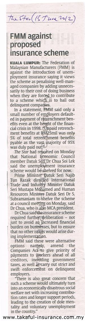 FMM againts proposed insurance scheme