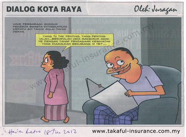 Karikatur Umur Persaraan Minimum