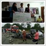 Penyerahan Pampasan Kemalangan RM402,157.25.