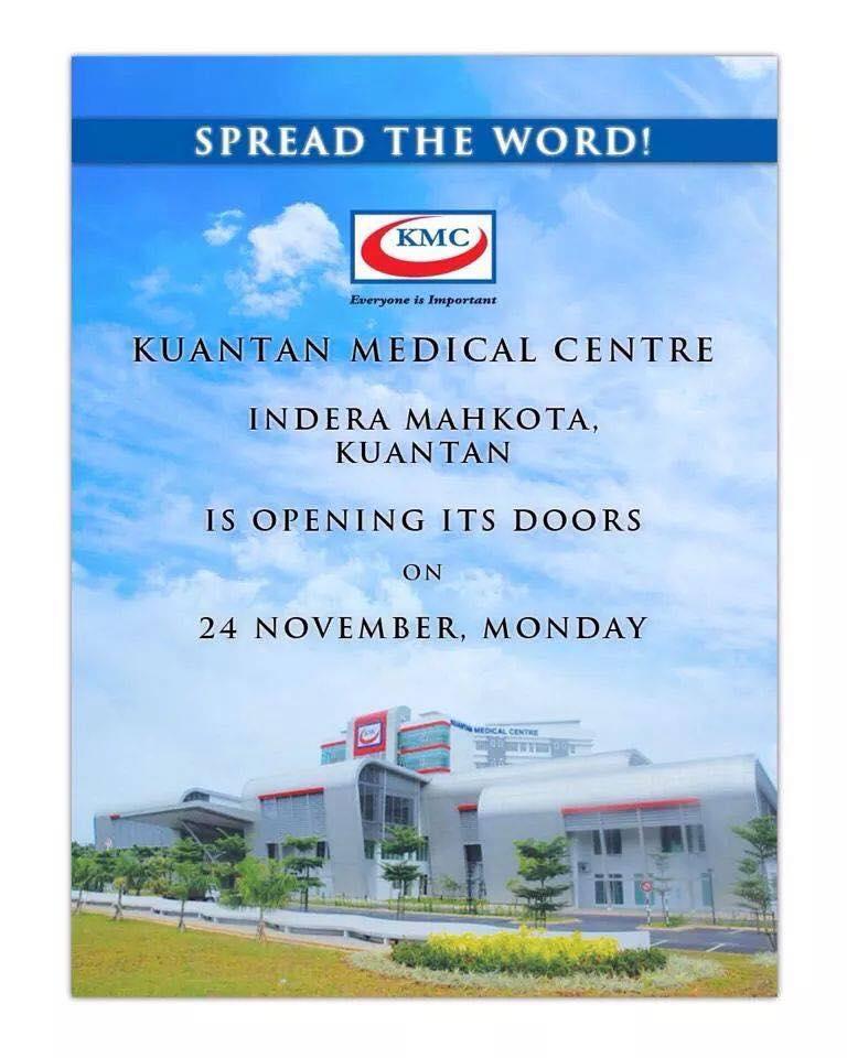 Bangunan baru Kuantan Medical di Centre Indera Mahkota Kuantan, Pahang bakal dibuka!